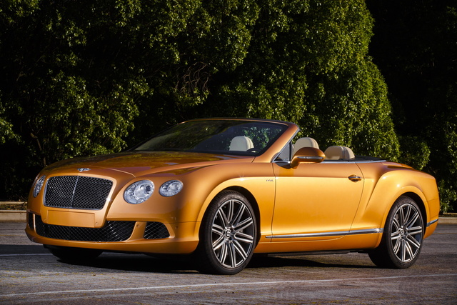 2014 Bentley Continental GTC, Front-quarter view, exterior, manufacturer