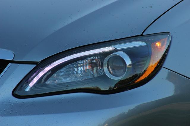 Headlight detail of the 2013 Chrysler 200S Convertible, exterior