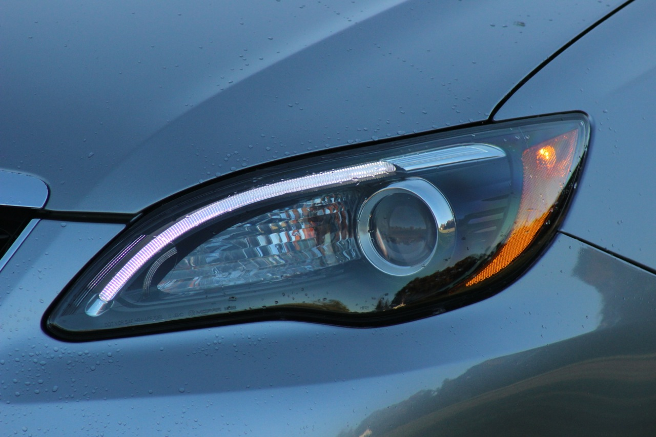 Headlight detail of the 2013 Chrysler 200S Convertible, exterior