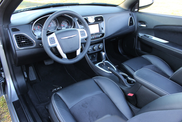 Cabin shot of the 2013 Chrysler 200S Convertible, interior