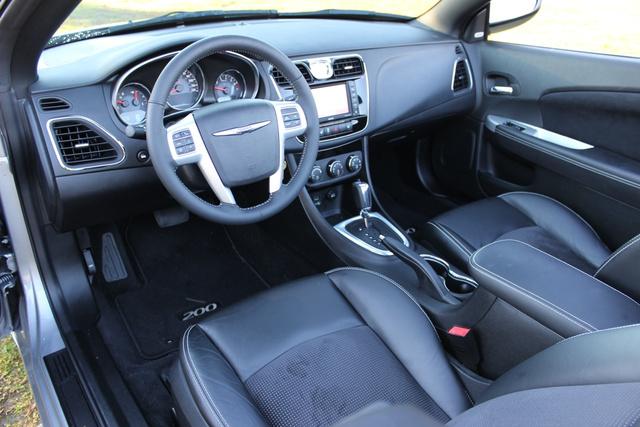 Cabin shot of the 2013 Chrysler 200S Convertible, interior
