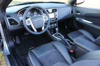 Cabin shot of the 2013 Chrysler 200S Convertible, safety, interior