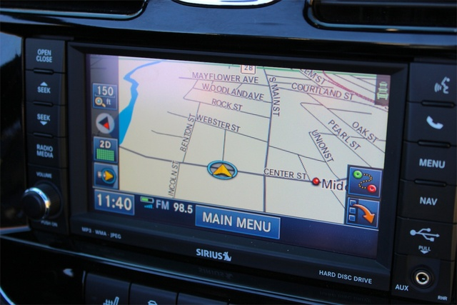 Navigation system of the 2013 Chrysler 200S Convertible, interior