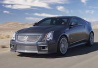 2014 Cadillac CTS-V Coupe, Front-quarter view. Copyright General Motors, manufacturer, exterior