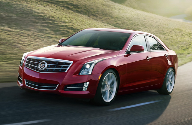 2014 Cadillac ATS, Front-quarter view. Copyright General Motors, exterior, manufacturer