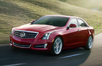 2014 Cadillac ATS, Front-quarter view. Copyright General Motors, manufacturer, exterior