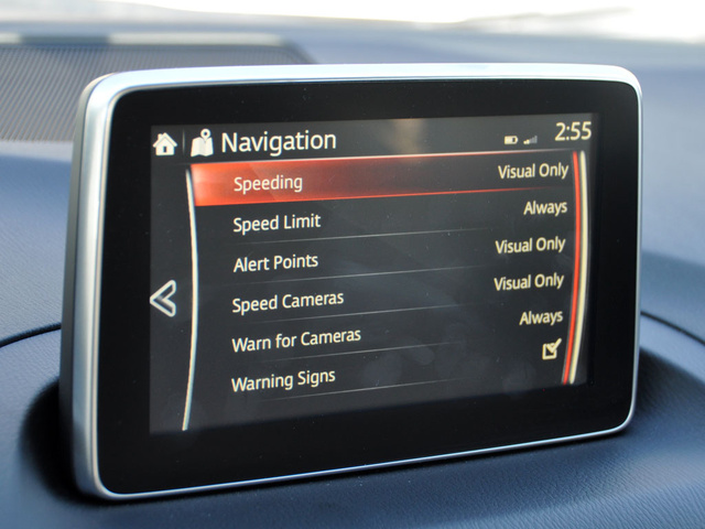 2014 Mazda MAZDA3 i Touring, 2014 Mazda 3i Touring speed limit and speed camera menu, interior