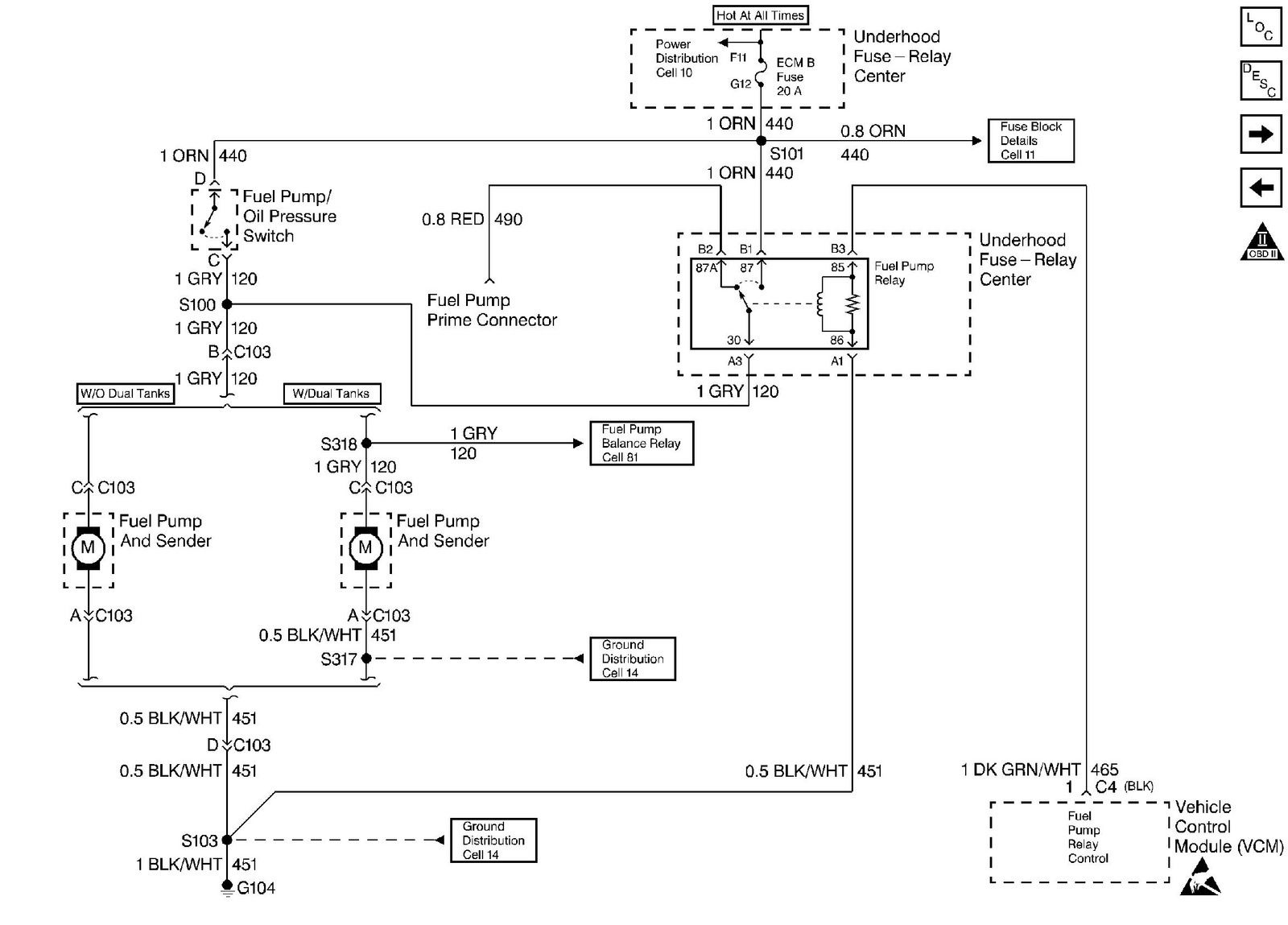 gmc suburban questions gmc suburban when i turn the key okay this schematic shows that you ve a fuel pump relay~