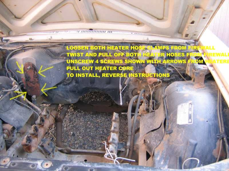 Ford Galaxie Questions How Do You Remove The Heater Core In A 1967