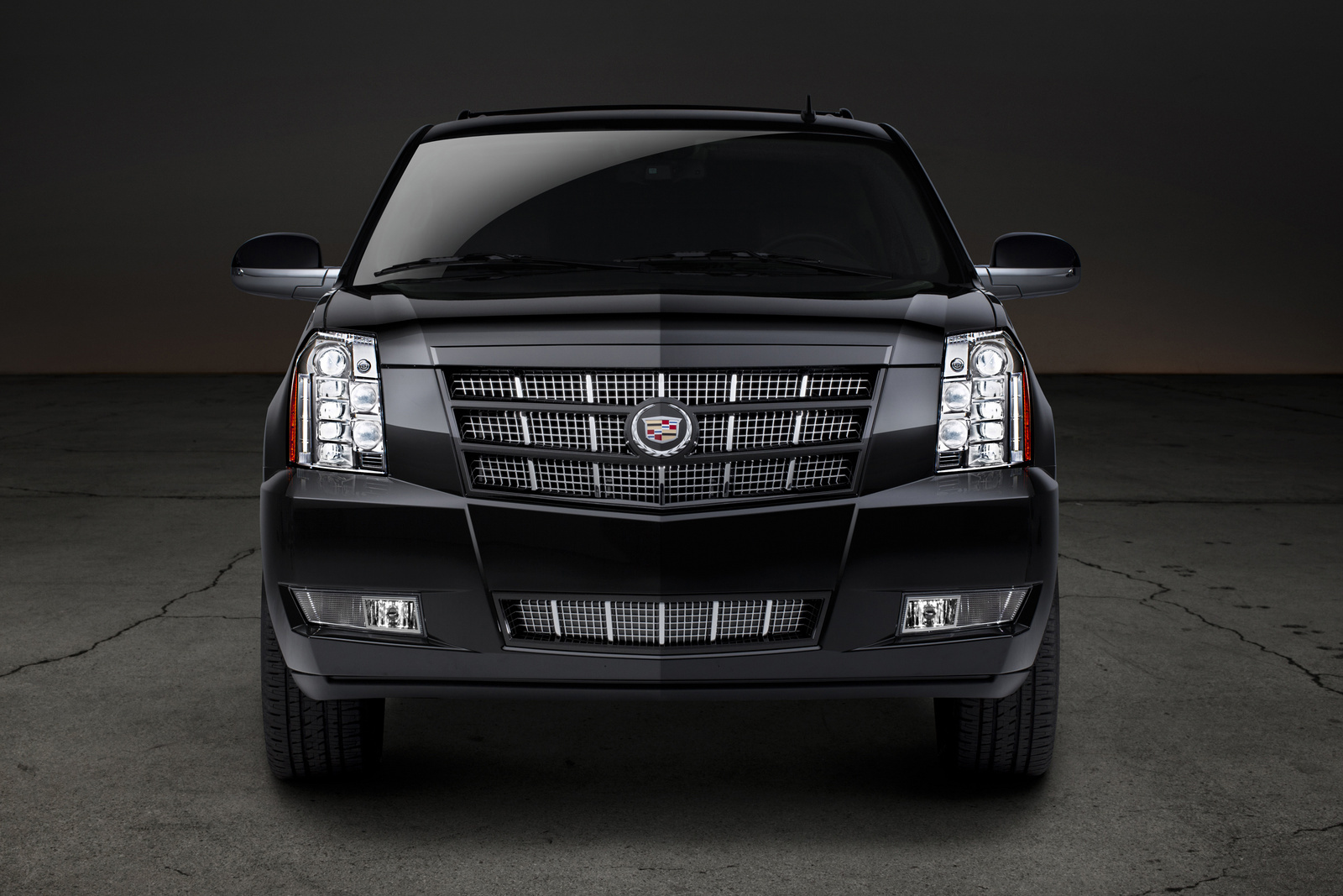 2014 cadillac escalade esv head on view copyright general motors exterior