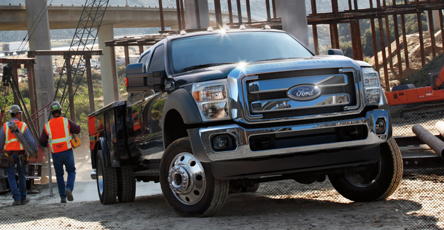 2014 Ford F-450 Super Duty, Front-quarter view, exterior, manufacturer