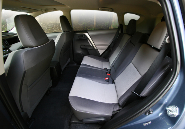 2013 Toyota RAV4 rear seat, interior, gallery_worthy