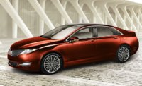 2014 Lincoln MKZ, Front-quarter view, exterior, manufacturer, gallery_worthy