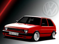 1989 Volkswagen Golf 2 Dr Hatchback, :), exterior, gallery_worthy