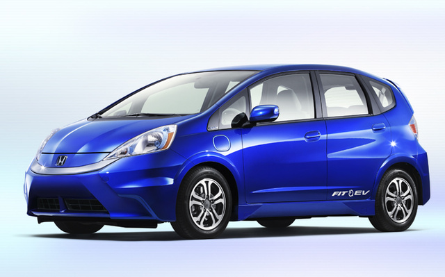 2014 Honda Fit EV, Front-quarter view, exterior, manufacturer, gallery_worthy