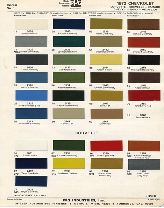 Chevy S Paint Colors