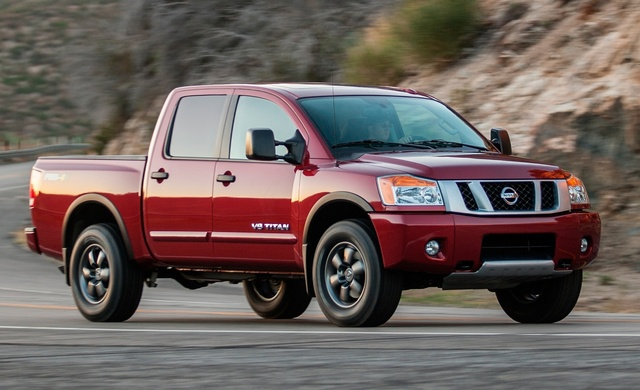 2014 Nissan Titan, Front-quarter view, exterior, manufacturer, gallery_worthy