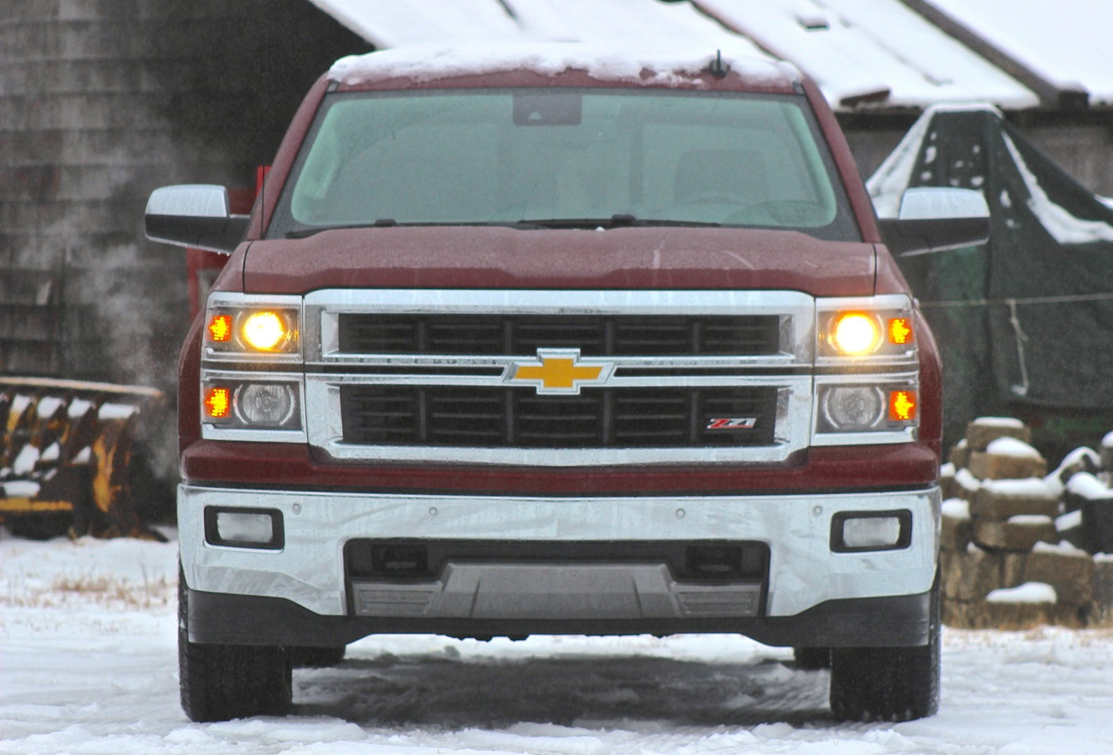 Front view of the 2014 Chevrolet Silverado 1500