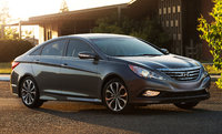 2014 Hyundai Sonata, Front-quarter view, exterior, manufacturer