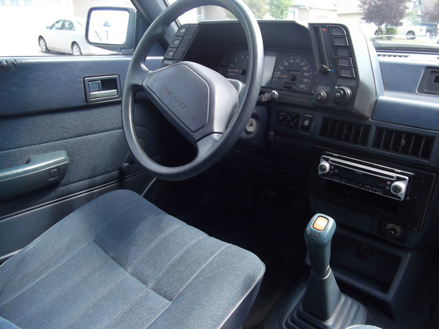 1992 Subaru Loyale 4 Dr STD 4WD Wagon, cockpit were all the action happens, haha, interior, gallery_worthy