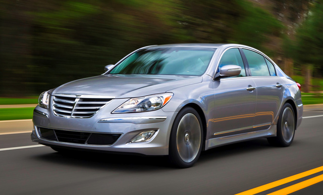 2014 Hyundai Genesis, Front-quarter view, exterior, manufacturer