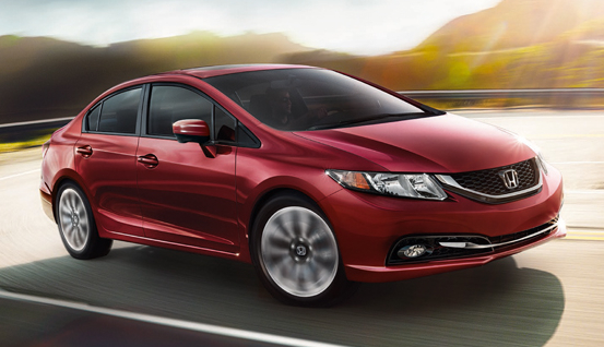 2014 Honda Civic, Front-quarter view, exterior, manufacturer