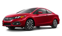 2014 Honda Civic Coupe, Front-quarter view, exterior, manufacturer