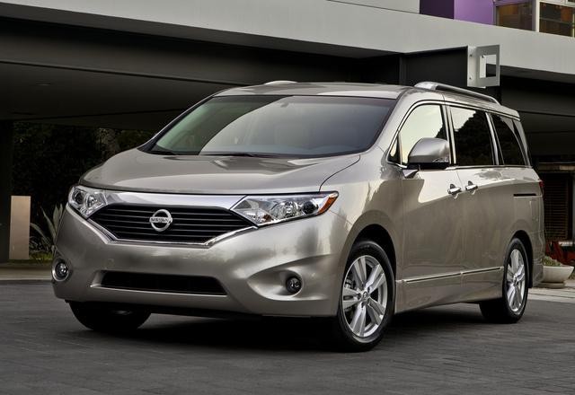2014 Nissan Quest, Front-quarter view, exterior, manufacturer