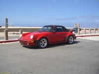 1987 Porsche 911 Carrera Turbo, 1987 Porsche 911 Carrera M-491 Turbo Look.  Only 16 Guards Red M-491 Cabriolet were shipped to the U.S. in 1987., exterior
