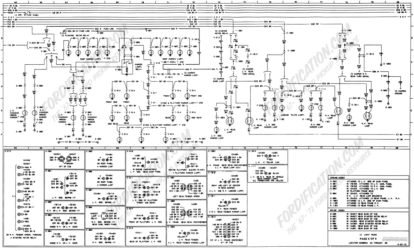 Ford F 150 Wiring Data Diagram 1965 Mustang Alternator Questions Are The Taillights Wired To Highbeam