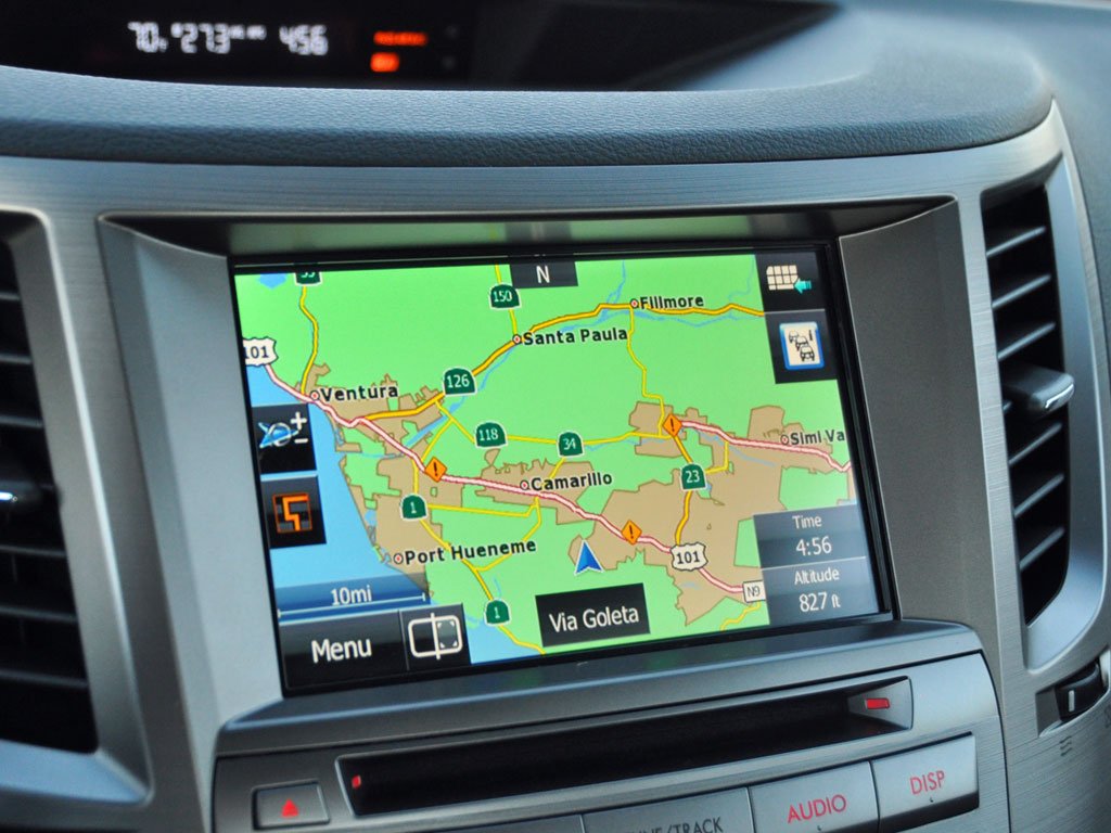 2014 Subaru Legacy 2.5i Sport navigation map display, interior