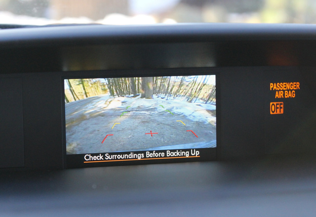 Backup Camera of the 2014 Subaru Forester, interior