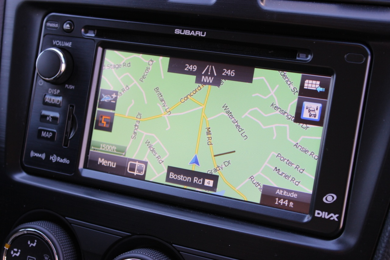 Navigation screen of the 2014 Subaru Forester, interior