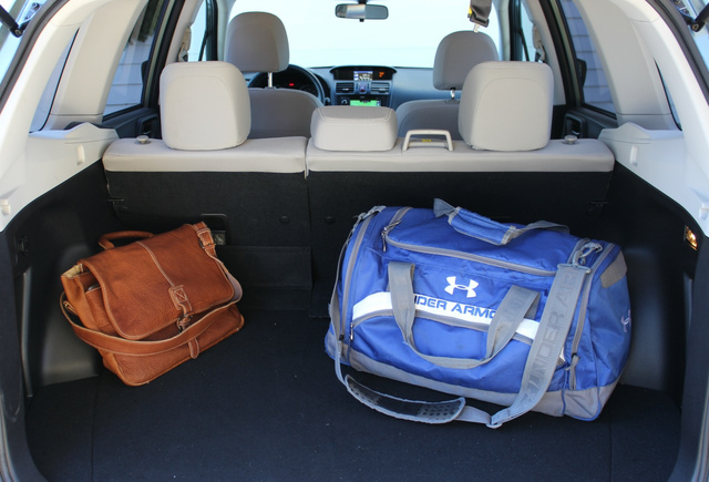 Rear cargo area of the 2014 Subaru Forester, interior