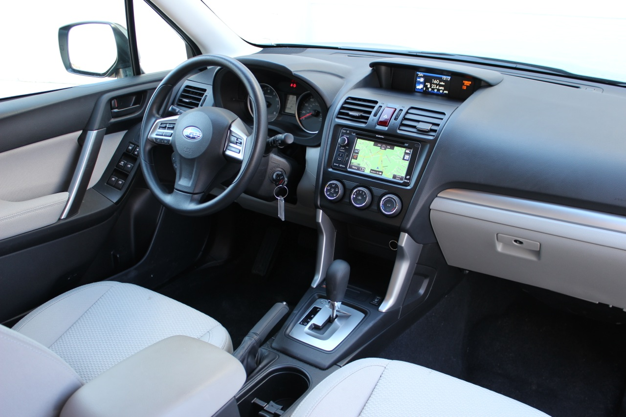 Interior of the 2014 Subaru Forester, interior, look_and_feel