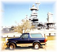 1995 Ford Bronco Eddie Bauer 4WD picture taken in 1999 at the US North Caroline battleship in Wilmington NC , exterior