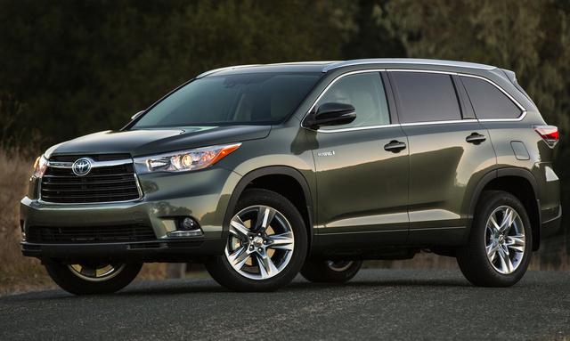 2014 Toyota Highlander Hybrid, Front-quarter view, exterior, manufacturer