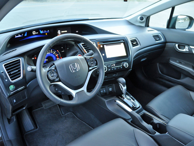 2014 Honda Civic EX-L Sedan dashboard, interior