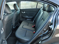 2014 Honda Civic EX-L w/ Navigation, 2014 Honda Civic EX-L Sedan rear seats, interior, gallery_worthy