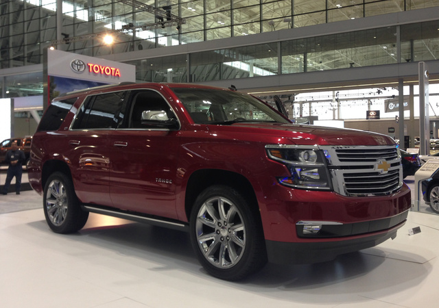 2015 Chevrolet Tahoe, Front-quarter view, exterior, manufacturer, gallery_worthy