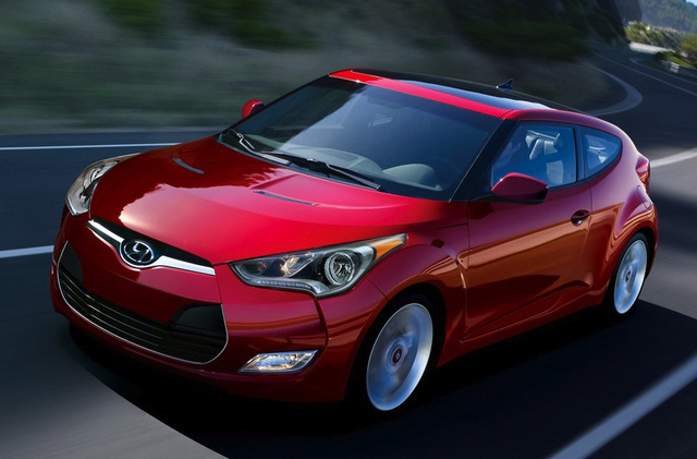 2014 Hyundai Veloster, Front-quarter view, exterior, manufacturer, gallery_worthy