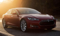 2014 Tesla Model S, Front-quarter view, exterior, manufacturer