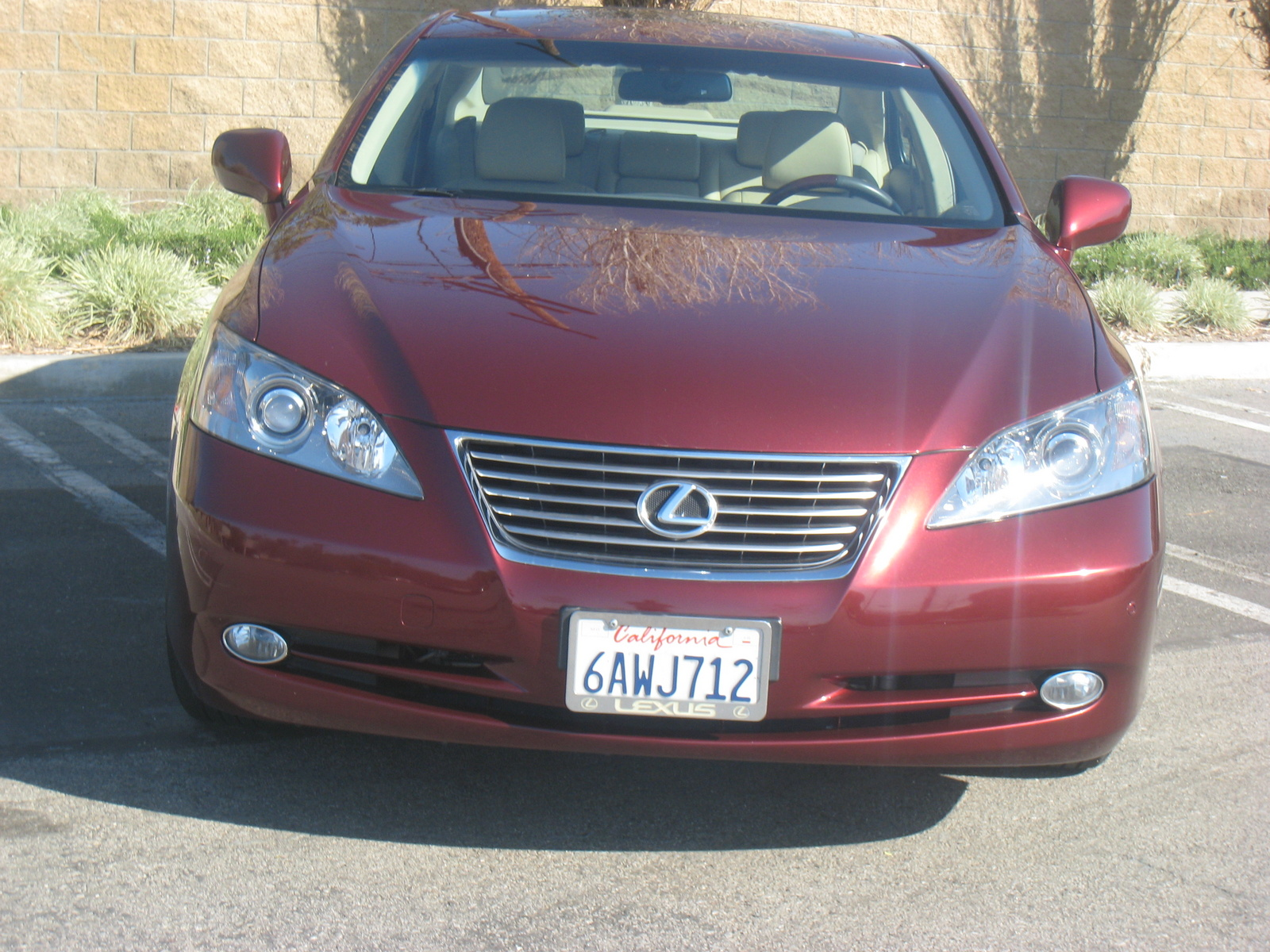 2007 lexus es 350 base front view exterior. Black Bedroom Furniture Sets. Home Design Ideas