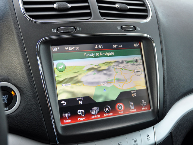 2014 Dodge Journey SXT FWD, 2014 Dodge Journey Uconnect navigation map display, interior, gallery_worthy