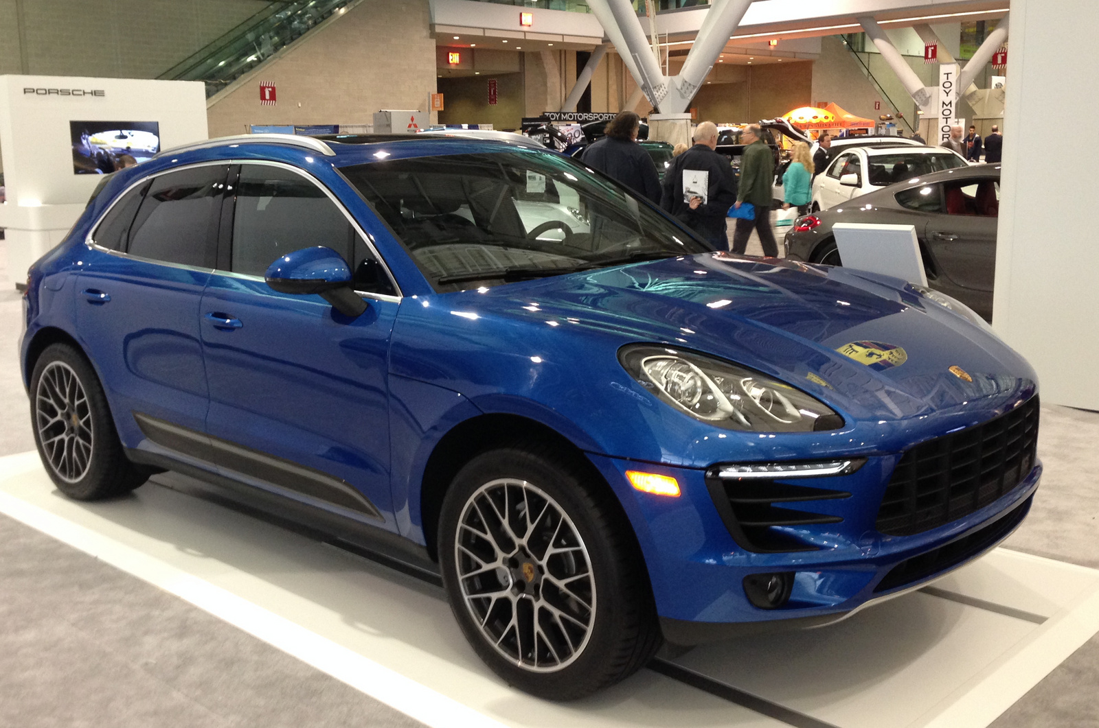 Front-quarter view at the New England Int'l Auto Show.