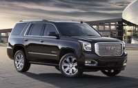2015 GMC Yukon Denali, Front-quarter view. Copyright General Motors, manufacturer, exterior