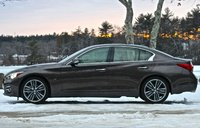 Side view of the 2014 Infiniti Q50, exterior