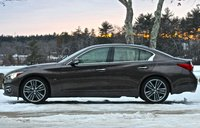 Side view of the 2014 Infiniti Q50, exterior, look_and_feel