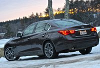 Rear 3/4 of the 2014 Infiniti Q50, cost_effectiveness, exterior