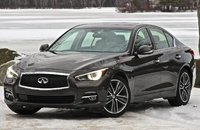 Front 3/4 of the 2014 Infiniti Q50, exterior